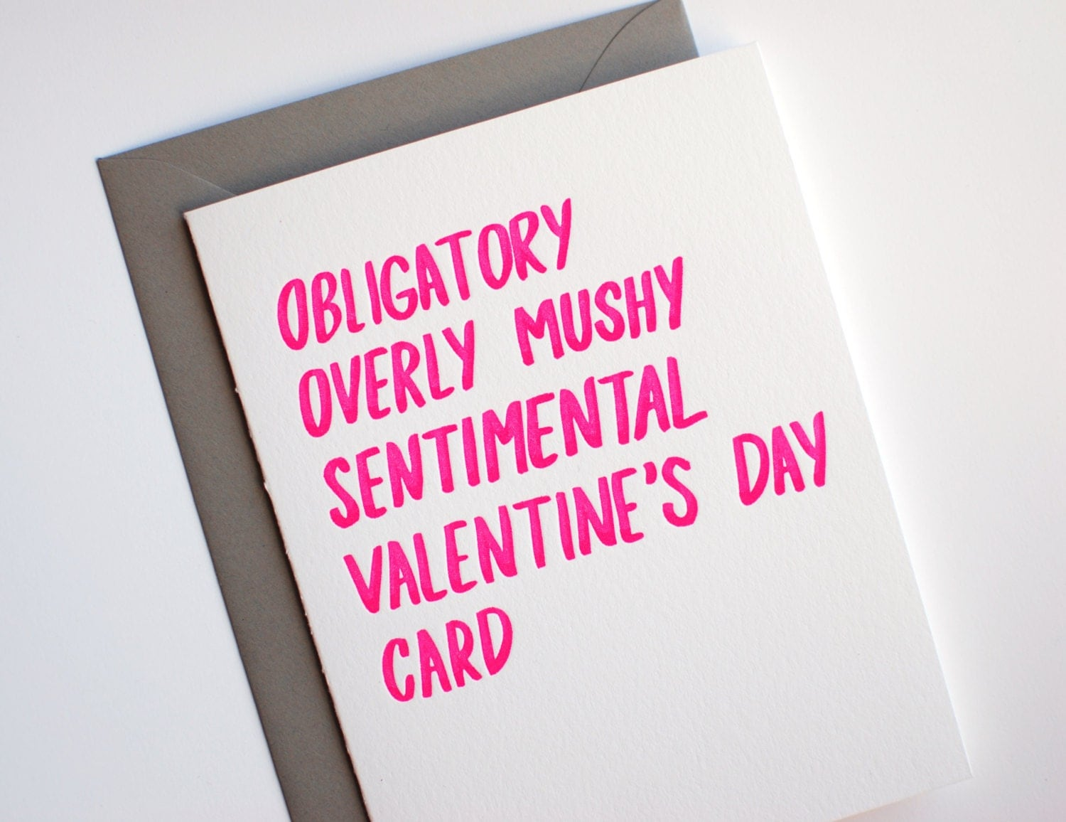 valentine card funny valentines day card letterpress valentines card obligatory valentines day card