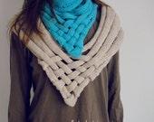 PDF Knit Pattern Cowl Scarf - Weave UNISEX neckwarmer - INSTANT Download