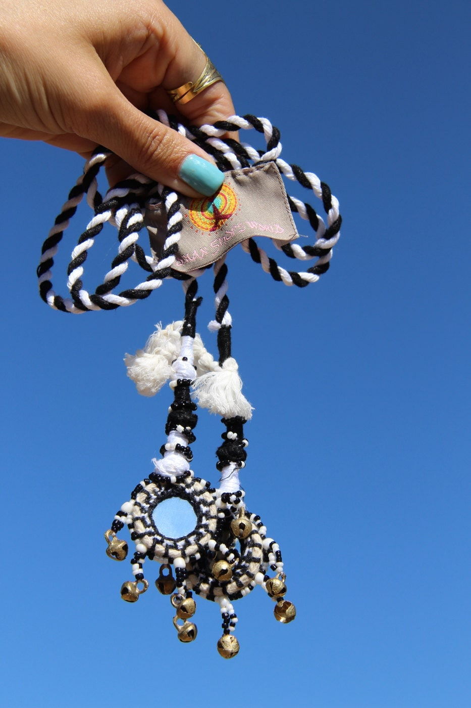 Camel Swag (Small): Black and White Mirrored, Bells, Camel ...