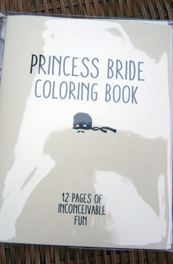 coloring book etsy princess bride coloring book by sweetgeek on etsy