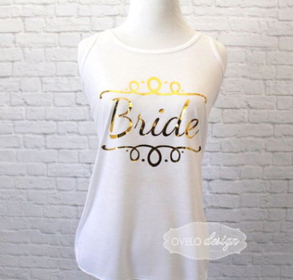 Bride Tank Top Racer Back Flowy and Super Soft