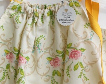 Rose, Yellow, Mustard, Cream, Tan Pillowcase, Dress, Jumper, Romper