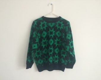 1980s Nordic Fair Isles Tribal Hipster Sweater