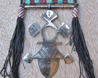 Tuareg Silver Jewelry, Compass Cross, Niger, Boho, Bellydance Jewelry