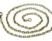Necklaces : 10 Antique Bronze Textured Oval Link Chain Necklaces with Lobster Clasp ... 18 inches -- Lead & Nickel Free 14112