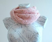 Handmade scarf pink scarf knit scarf cowl hand knit scarf hand knit cowl scarf infinity scarf knit snood pink cowl winter scarf knit cowl