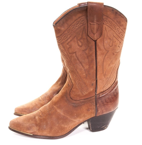 cowboy boot size 9 womens size by metropolisnycvintage