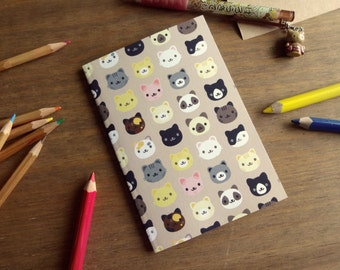 A6 Recycled Notebook • Lovely Cats