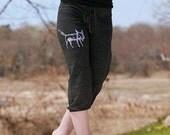clever me Fox Pants, Cropped Pants, Cute Pants, S,M,L,XL