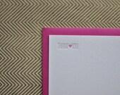 heart letterpress thank you cards