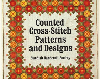 80s Counted Cross Stitch Patterns and Designs Book by the Swedish Handcraft Society Vintage Cross Stitch
