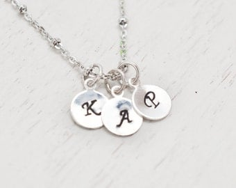 personalized child name, mommy necklace, bridesmaid monogram necklace, bff jewelry, friendship, engraved jewelry, family necklace, christmas