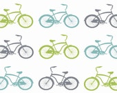 Cruiser Bikes by Growing Up Wild Fabric in Your Choice of Organic Interlock, Eco Canvas, Satin, Basic Combed Cotton, Kona® Cotton or Minky