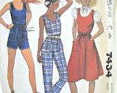 McCall's 7434 Jumper, Jumpsuit, and Belt Pattern, Size 12, Vintage 1981