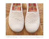 Slanting Line Slippers/Espadrilles - The Basic Crochet Pattern - Instant Download Pdf