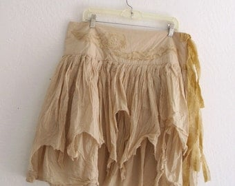 Funky Tattered Pixie Skirt / Made to Order Bohemian Gypsy