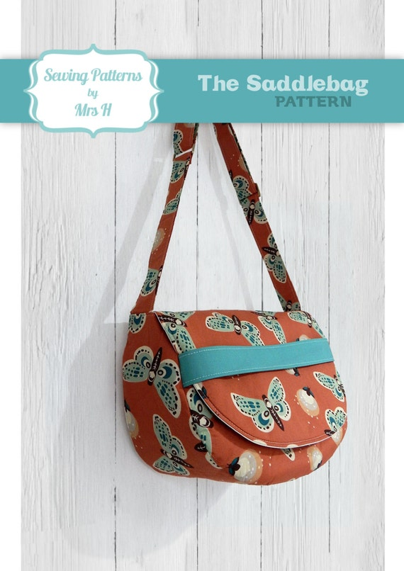 The Saddlebag Sewing Pattern by Mrs H - Ideal for Beginner bag makers!