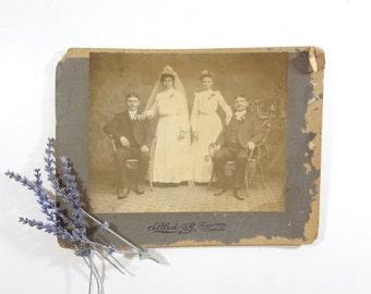 Antique 1800s Wedding Photo / Vintage Wedding Picture
