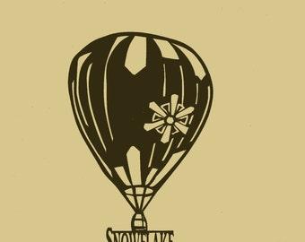 Custom, Personalized, Hot air balloon Soaring, Metal Art, Wall Decor