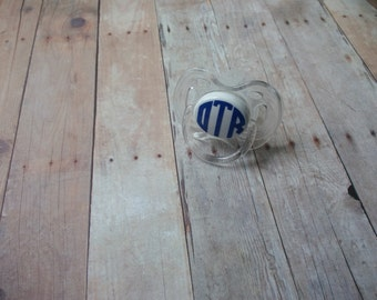 Monogrammed Pacifier-  personalized baby gift, baby girl gift, baby boy gift