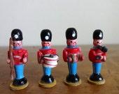 Vintage wood dollhouse soldiers