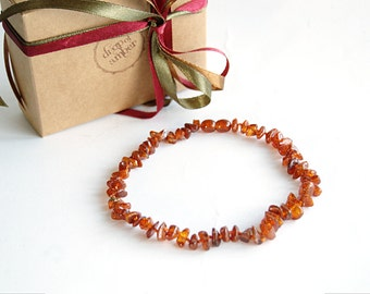New mom - Amber teething necklace - baby baptism gift - nursing necklace - for teething babies - baltic amber necklace - orange