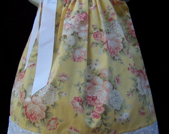 Flower Pillowcase Dress / Easter / Spring / Flower Gril /Cute / Girly /Newborn / Infant / Birthday Party / Yellow / Custom Boutique Clothing