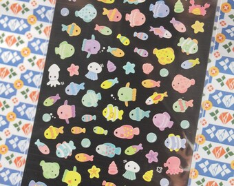 Lovely Colorful Fish Sticker - 1 Sheet