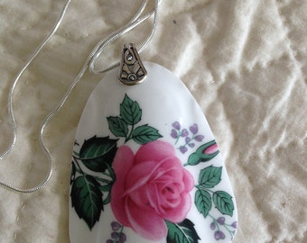 Pendant Broken China Bone China Sterling Silver