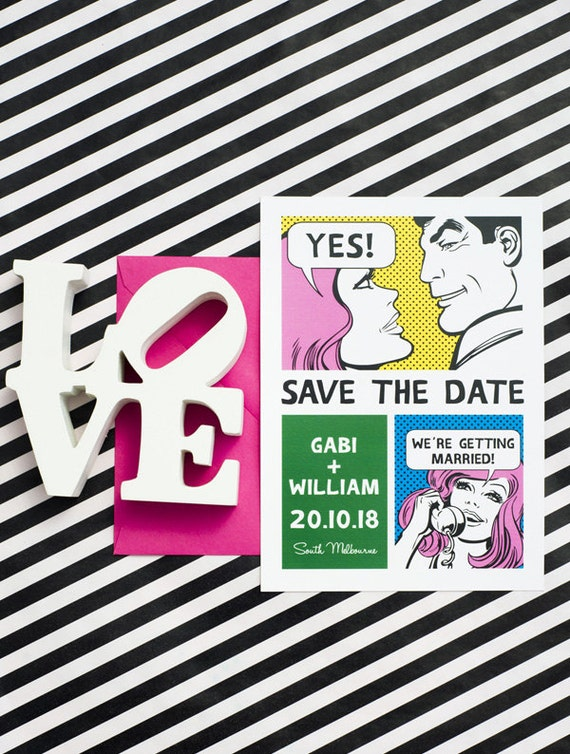 Funny Comic Save the Date Printable