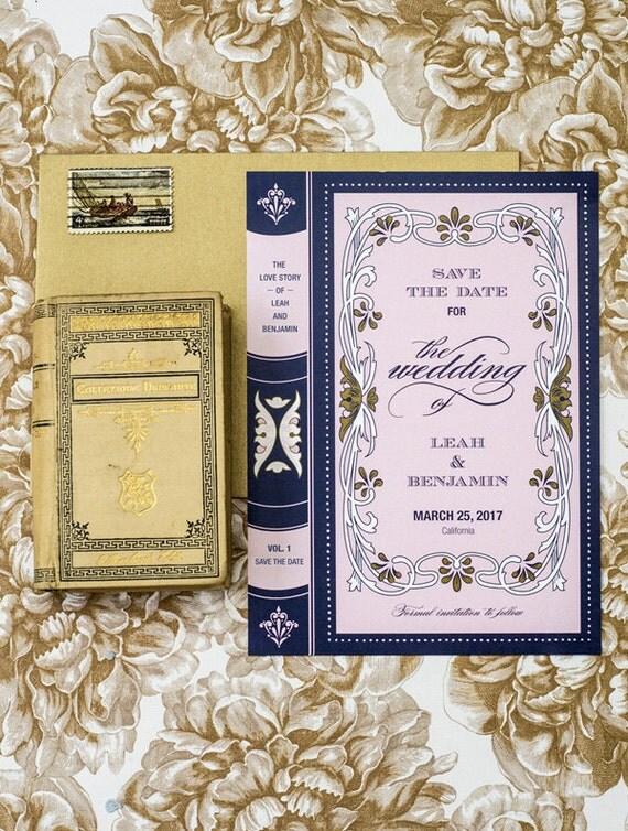 book wedding save the date printable template. Black Bedroom Furniture Sets. Home Design Ideas