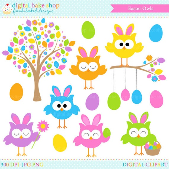 free easter owl clip art - photo #45