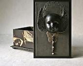 Handmade Box Dark Angel Mixed Media Series for Gift and Decor