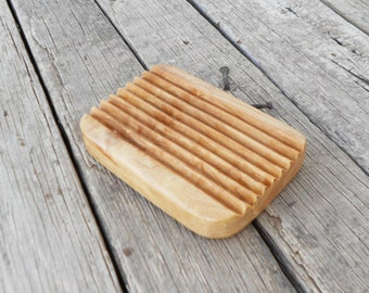 Olive Wood Soap Holder / Bathroom Wooden Soap Dish