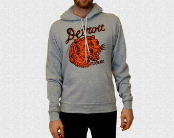 Detroit Tigers Hoodie Hooded Sweatshirt Vintage 1935 Penant Inspired Design Pullover Hooded Sweatshirt Tigers Fan Gift Opening Day 2017