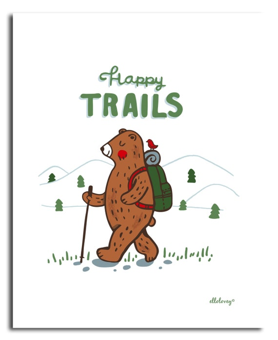 Happy Trails Art Print -8x10