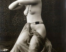 Early 1900s Risqué Nude Female Scarf Draped at Waist ~NEW 8x10 Art Print Reproduction