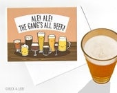 Ale Ale the Gangs All Beer Card with Envelope Blank inside
