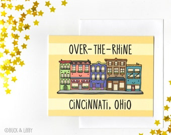 Over the Rhine Cincinnati Ohio Card with Envelope Blank inside