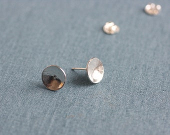 Textured Disc Earrings