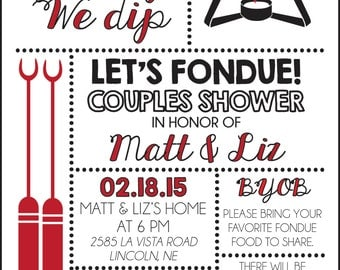 Fondue Party Invite Digital File