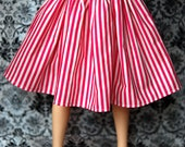 Delf Feeple60 Pink And Ivory Striped Skirt For SD Ball Jointed Dolls - Last One - Free Shipping Black Friday Cyber Monday