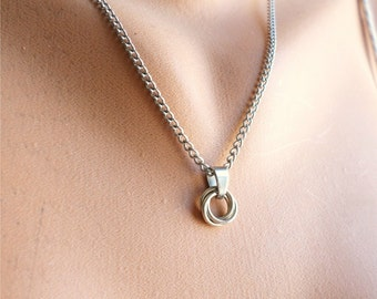 Love Knot Necklace Sterling Silver Knot Jewelry