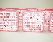 Valentine Cards, Sweet Heart Cards, Valentine Mini Cards, Blank Cards with Envelopes, Square Cards, 3x3 Cards, Valentine Tags, Love Notes