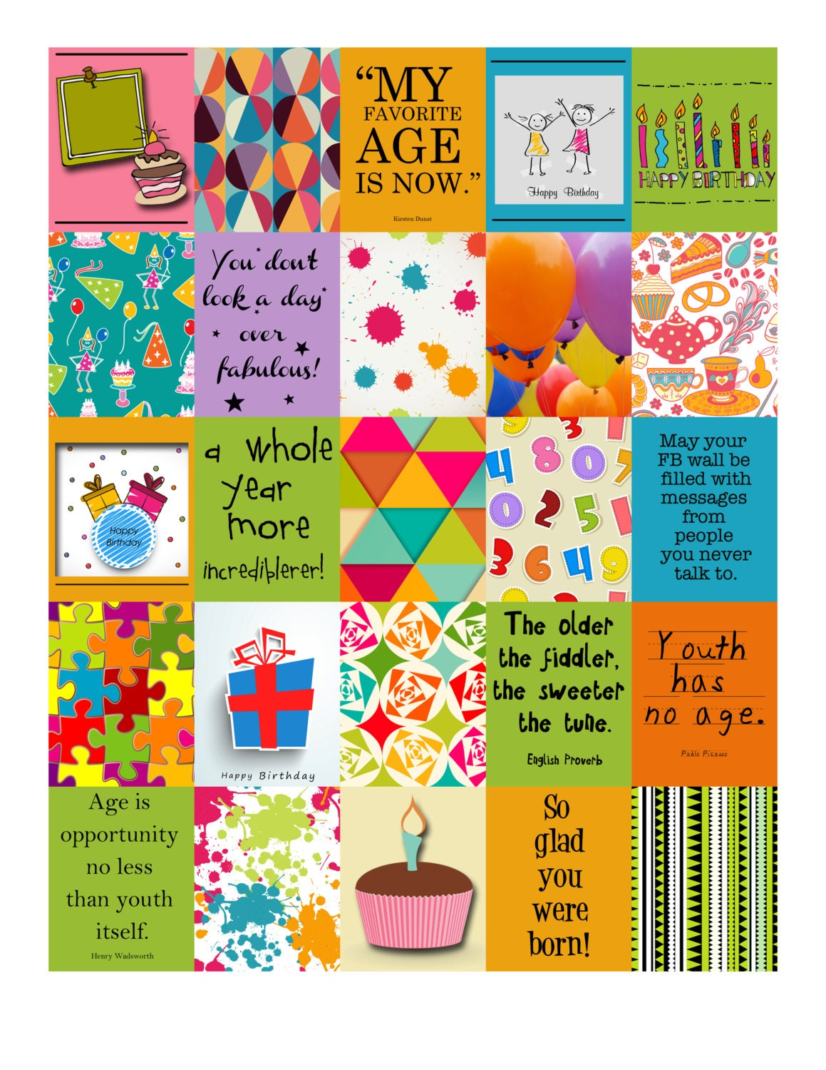birthday life planner printable stickers for your erin condren zoom