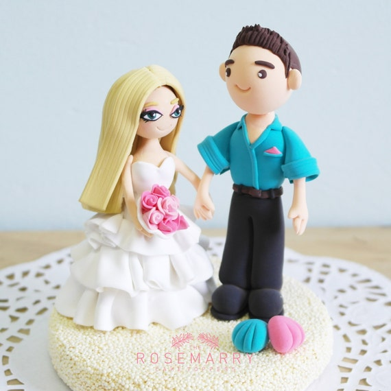 barbie wedding cake topper custom cake topper amp ken on the 11071