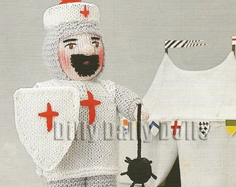 Anne Carol Creations Woolly Wotnots No 39 THE CRUSADER Toy Doll Ornament Knitting pattern