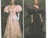 UNCUT Simplicity 4078 Circa 1895 Victorian Ball Gown Pattern SZ 6-12