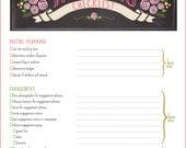 Wedding Checklist PDF Printable