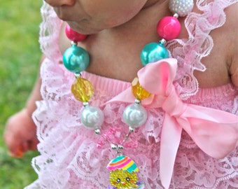 Easter Bubblegum Necklace- Easter Baby Necklace